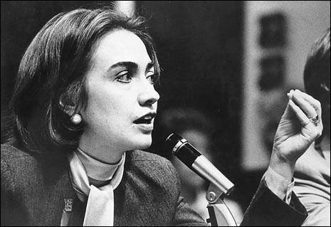 年轻时的希拉里·克林顿(Hillary Rodham Clinton)