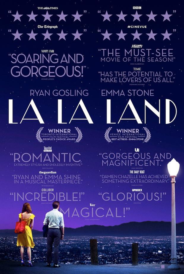 艾玛·斯通&瑞恩·高斯林 主演高口碑歌舞片《爱乐之城》曝全新预告 海报