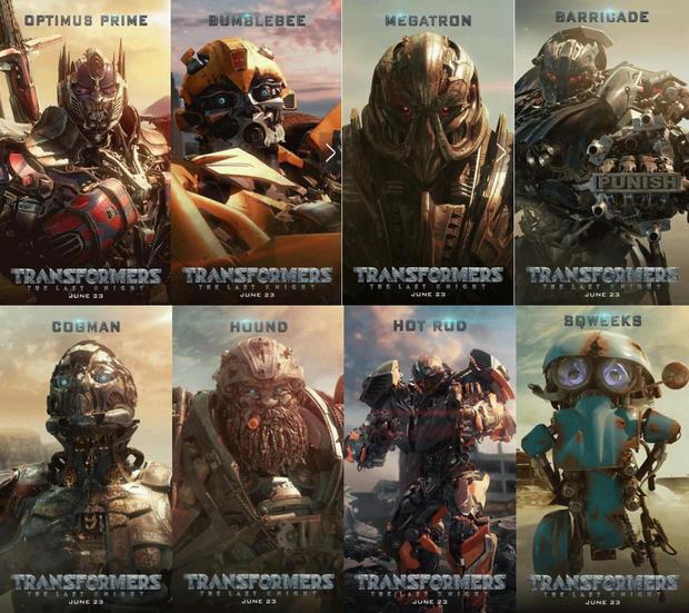 《变形金刚5:最后的骑士》曝光八款机器人动态海报