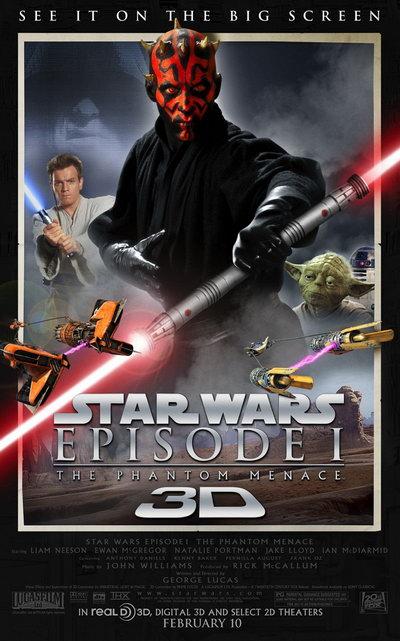 《星战前传一》3D化重返大银幕 3D版预告曝光