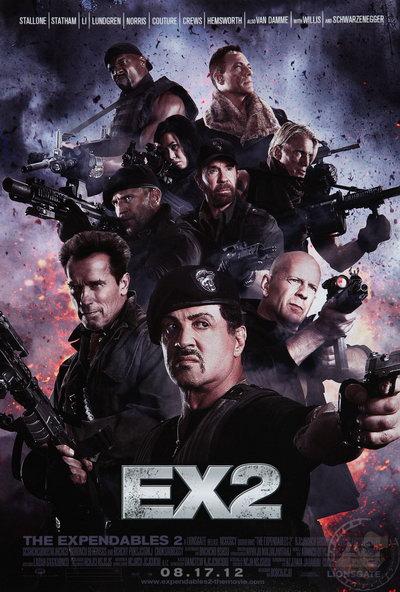 《敢死队2》(The Expendables 2)正式海报今天发布 余男亮相