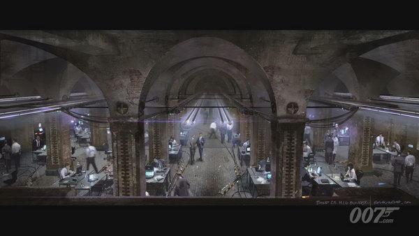 《007大破天幕危机》(Sky Fall) 场景概念图