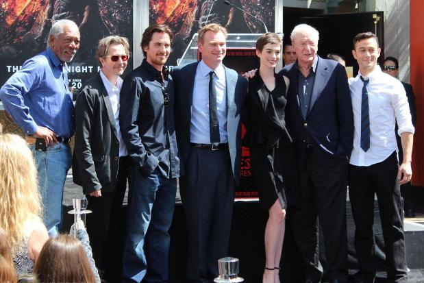 """大导演克里斯托弗·诺兰(Christopher Nolan)星光大道留手印 """"黑暗骑士""""众主创到场"""