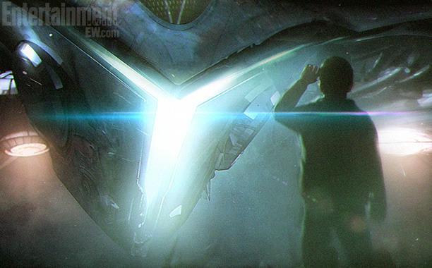 """图为""""彼得·奎尔""""(Peter Quill)第一次接触外星人的概念艺术"""