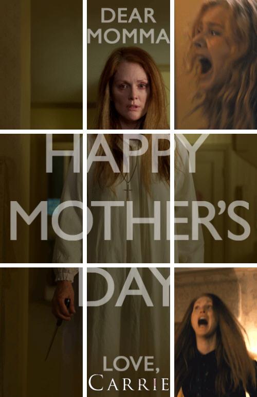 《魔女嘉莉》(Carrie)的另类母亲节礼物 母亲节动态海报