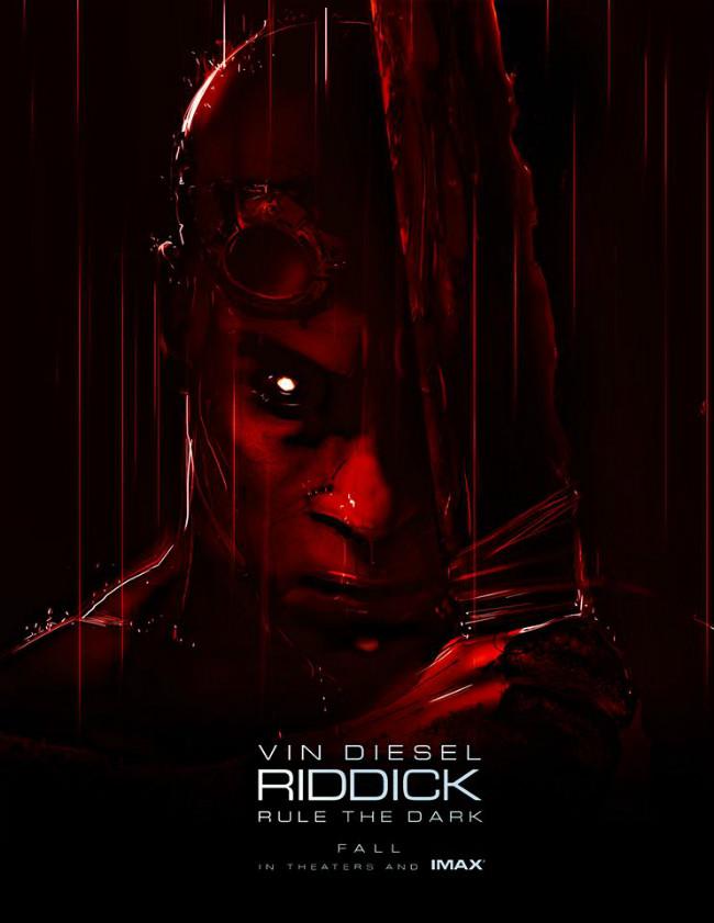 《星际传奇3》(Riddick)曝新海报 血色硬汉迪塞尔统治黑暗