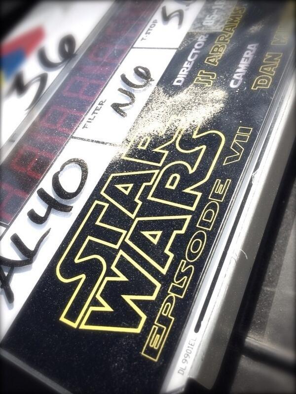 《星球大战7》(Star Wars: Episode VII)开拍第一天的幕后照
