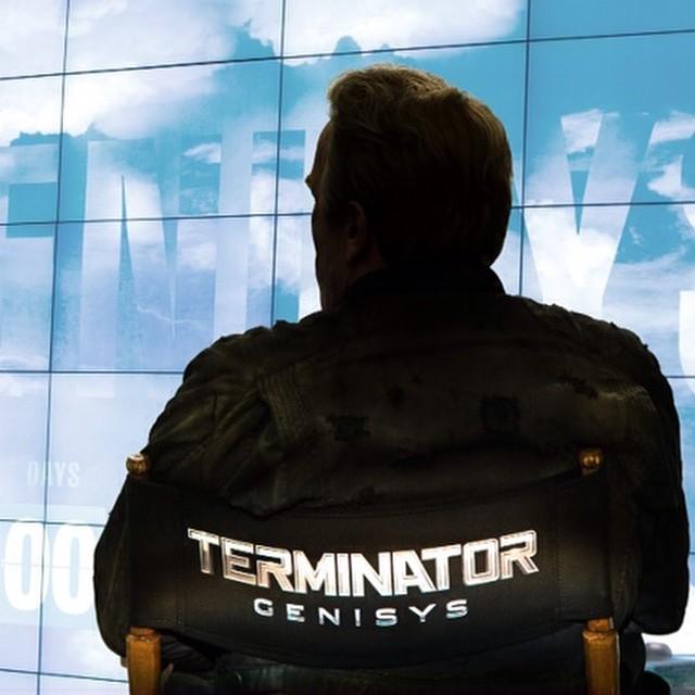 施瓦辛格发布新版《终结者:创世》(Terminator Genesis)杀青照