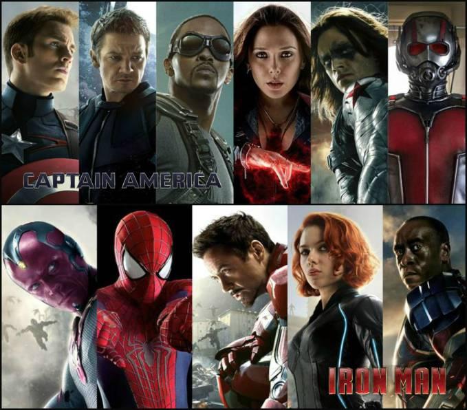目前曝光的美队阵营成员包括:美队、冬兵、鹰眼、猎鹰、红女巫和蚁人。 钢铁侠阵营的复联成员则有:钢铁侠、蜘蛛侠、幻视、黑寡妇和战争机器。