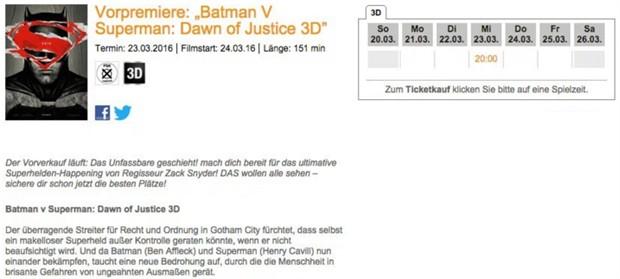 """《蝙蝠侠大战超人》公开片长 保持DC特""""长"""":最终剪辑版全片151分钟"""