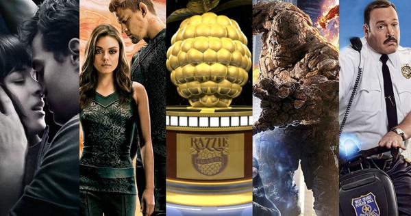 《神奇四侠》和《五十度灰》分享第36届最差电影金酸莓奖
