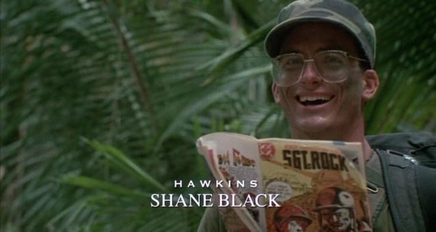 1987年,年轻的布莱克曾饰演《铁血战士》首部曲中的霍金斯一角