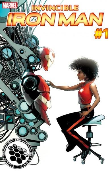 """钢铁侠继任者定名""""铁心"""" (Ironheart) 15岁黑人少女瑞瑞·威廉姆斯接任托尼史塔克"""
