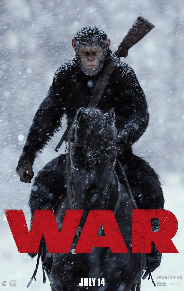 《猩球崛起:终极之战》(War for the Planet of the Apes)首曝中文预告片和海报