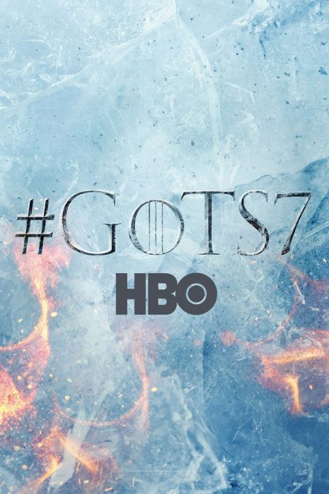 """《权力的游戏》第七季首款海报发布""""冰""""与""""火"""""""