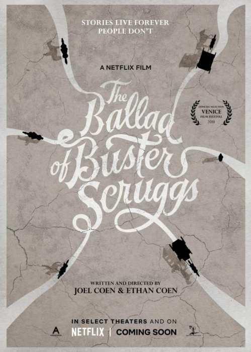 科恩兄弟威尼斯获奖作《巴斯特·斯克鲁格斯的歌谣》曝中字预告