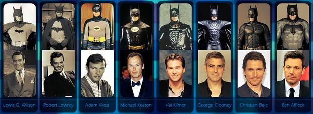 """前八任""""蝙蝠侠""""演员一览"""