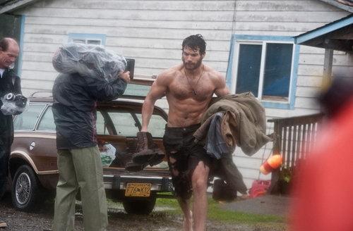 《钢铁之躯》(Superman: Man of Steel)中亨利·卡维尔的超人造型