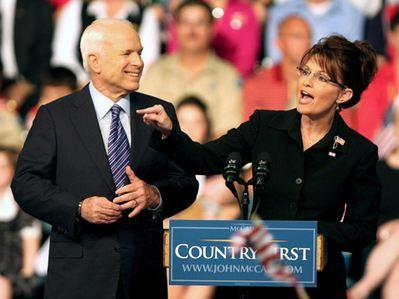 正版的McCain和Palin