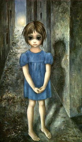 Margaret Keane画中人物都拥有一双大眼睛