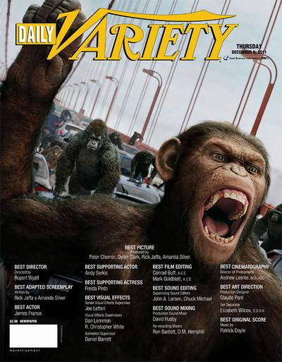 第10届视觉效果协会奖揭晓,《猩球崛起》最佳视觉效果!