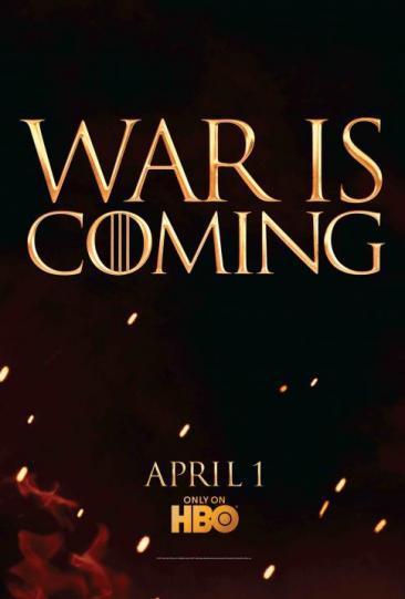 《权力游戏》曝第2季新海报 预示火热激战将至