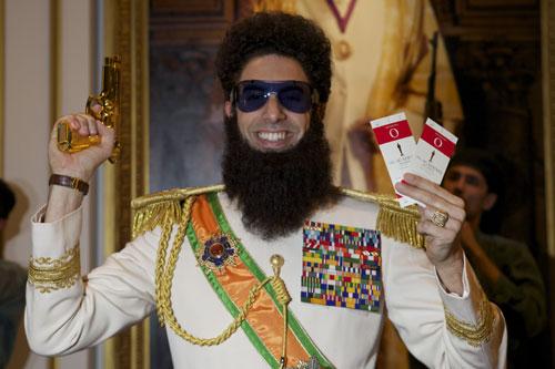 """萨沙·拜伦·科恩将以""""独裁者""""形象出席奥斯卡颁奖典礼"""
