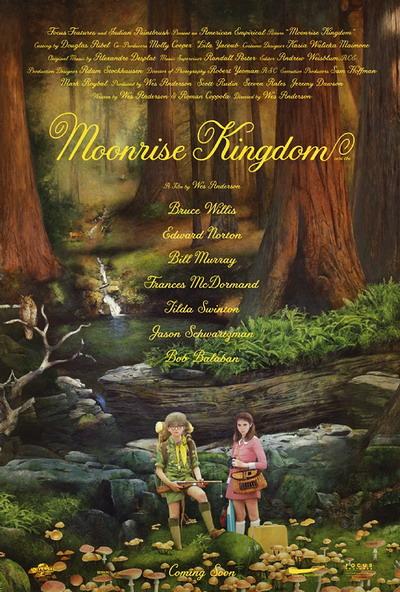 韦斯·安德森新片《月升王国》(Moonrise Kingdom)首曝海报以及最新预告