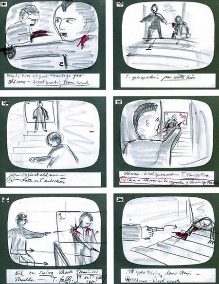 《出租车司机》(Taxi Driver )分镜手稿曝光 德尼罗变身Q版杀手