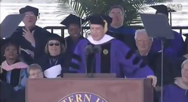 Stephen Colbert2011年在母校(西北大学)的演讲(无字幕)