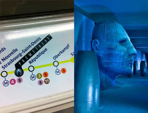 《普罗米修斯》(Prometheus)片段 巴黎地铁惊艳宣传