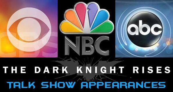 黑暗骑士崛起(the Dark Knight Rises)演员访谈录时刻表