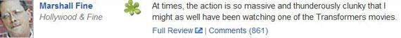 那条在两天之内吸引了861条评论的《黑暗骑士崛起》负面影评