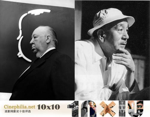 迷影网导演榜单前两位分别为希区柯克和小津安二郎