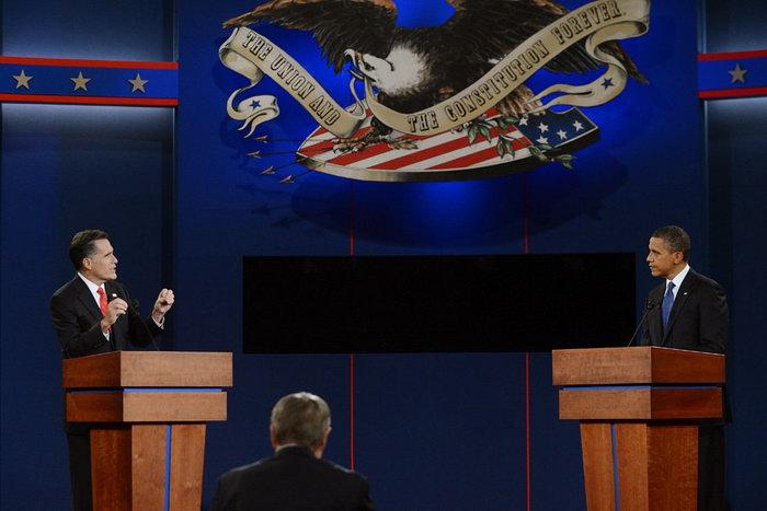 奥巴马罗姆尼 2012美国总统大选 首场电视辩论 [完整版中文字幕]