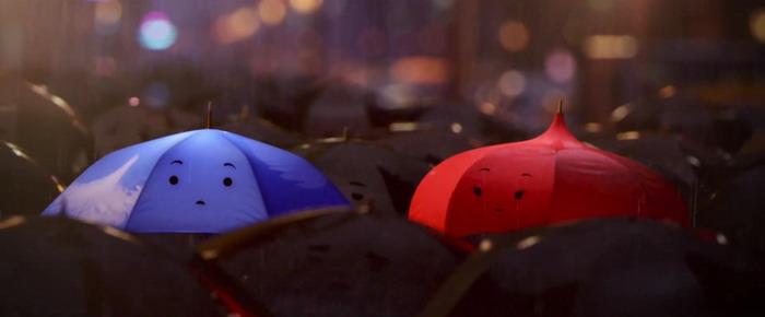 皮克斯动画短片《小蓝伞》(The Blue Umbrella)曝光片段