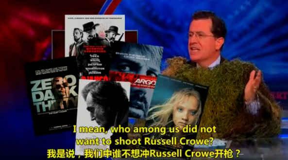扣扣熊报告 2013.01.14 Colbert谈反对枪支管制的极端观点