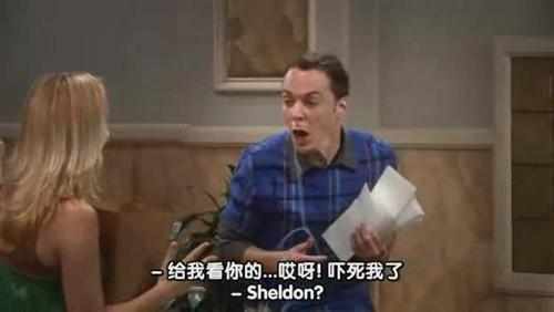 """""""哎呀吓死我了""""——这句话是sheldon说得最准确的一句了。"""