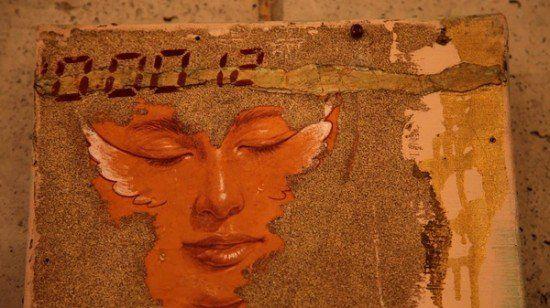 纪录片《阿里郎》的剧照,照片上出现的画作是金基德的油画作品