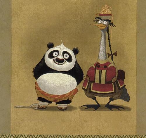 阿宝和他的鸭子老爹:话说,阿宝没发育的时候和平先生还是有一些些父子感的