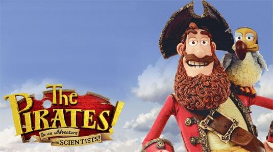 《神奇海盗团》预告海报,船长,你肩上为啥不是鹦鹉而是只肥大的渡渡鸟捏……