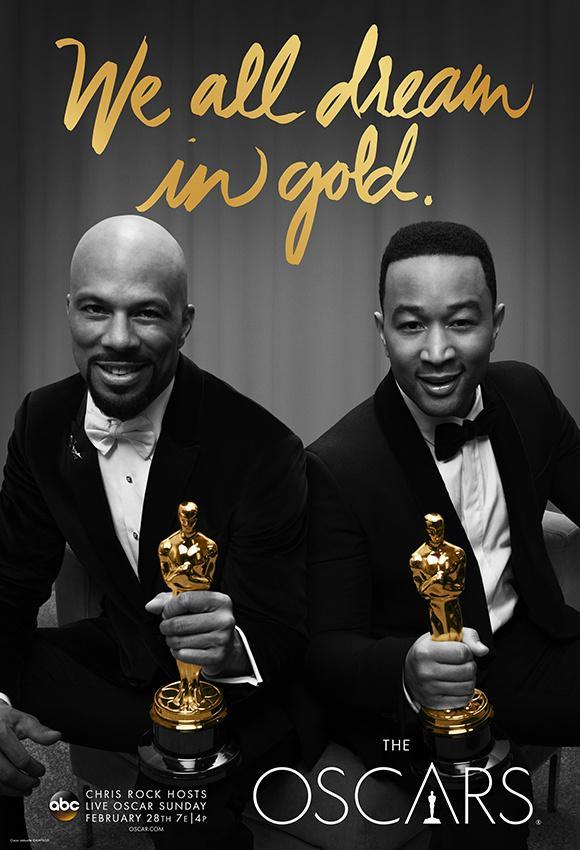 2016年88届奥斯卡奖发布We All Dream In Gold官方主题海报