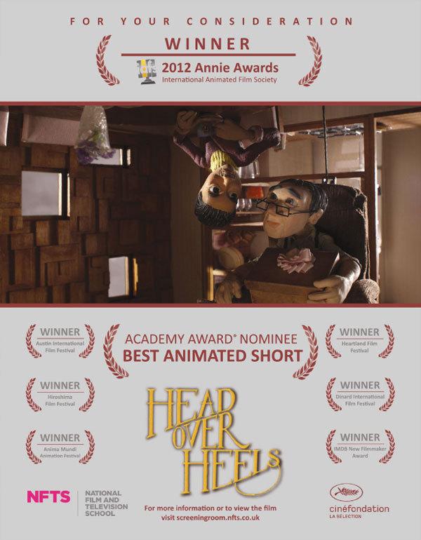 第85届奥斯卡提名动画短片《头朝下的生活》(Head over Heels)