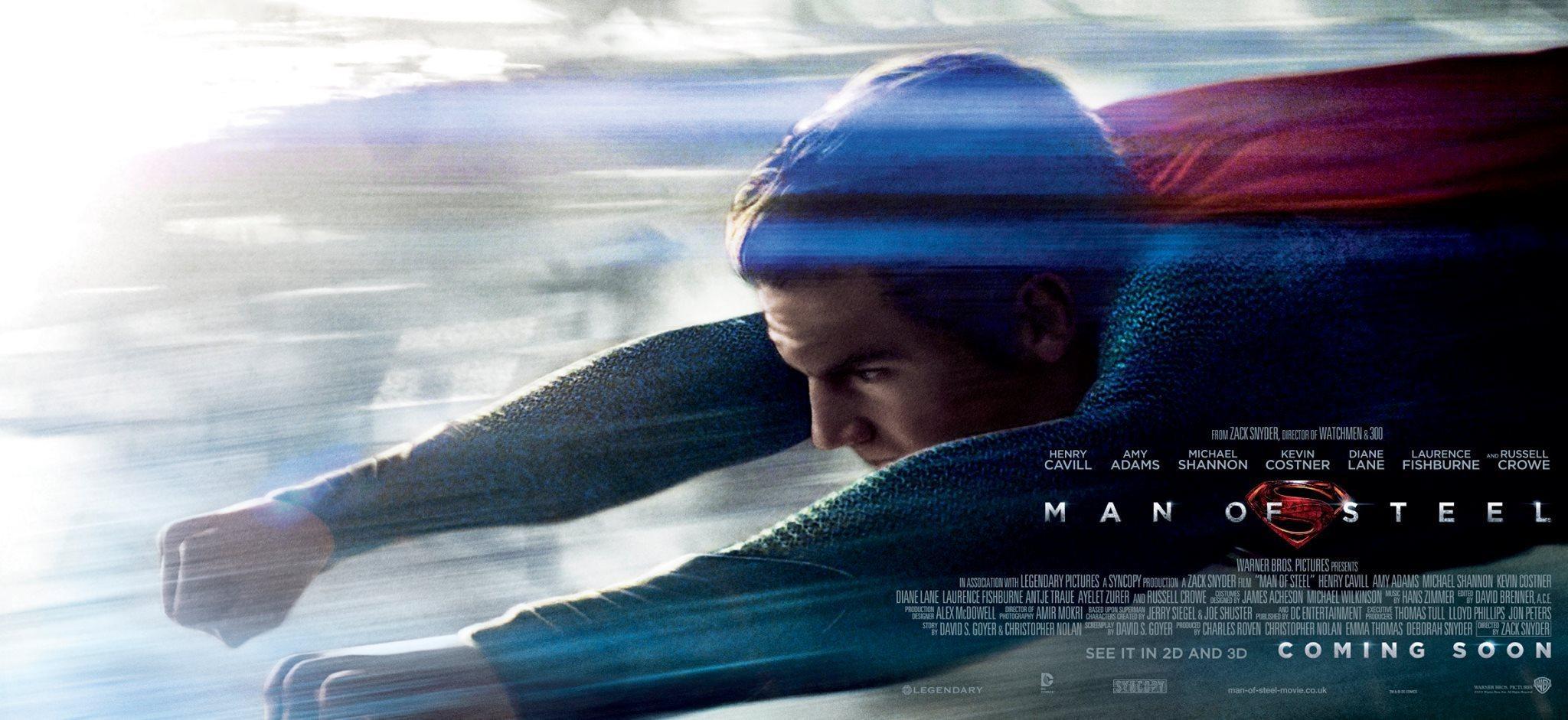 《超人:钢铁之躯》(Man of Steel)发对决版海报 首支特辑揭开超人身世