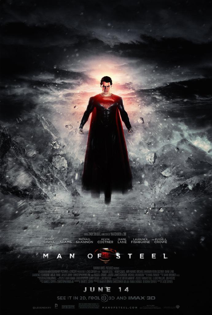 《钢铁之躯》(Man of Steel)新款中文预告发布!大战惨烈超人遭全球通牒