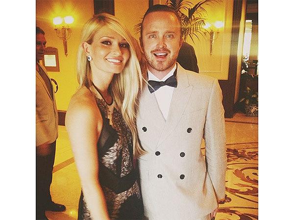 《绝命毒师》男星亚伦·保尔与女友Lauren Parsekian大婚