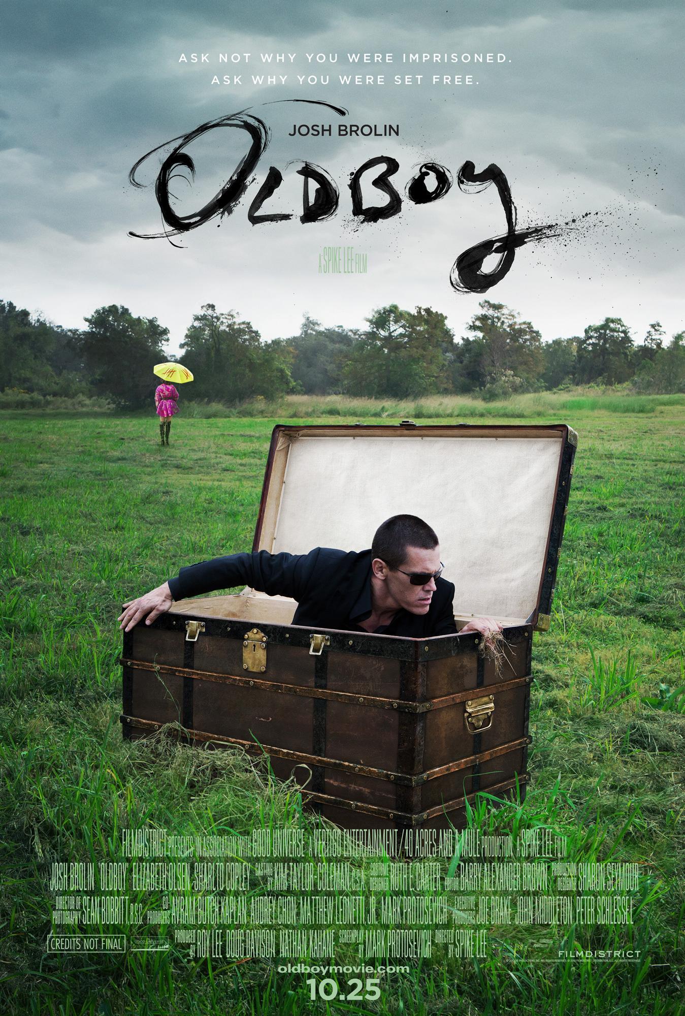 美版《老男孩》(Oldboy)海报再现经典场景 布洛林手书片名