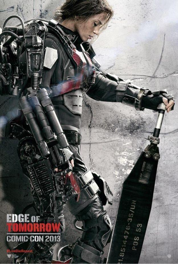 《明日边缘》(Edge of Tomorrow)曝光角色海报 阿汤与女主身披重甲