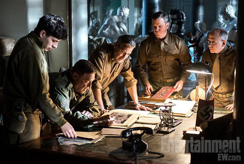 """《古迹卫士》(The Monuments Men)首曝预告 克鲁尼达蒙领衔""""二战版十一罗汉"""""""