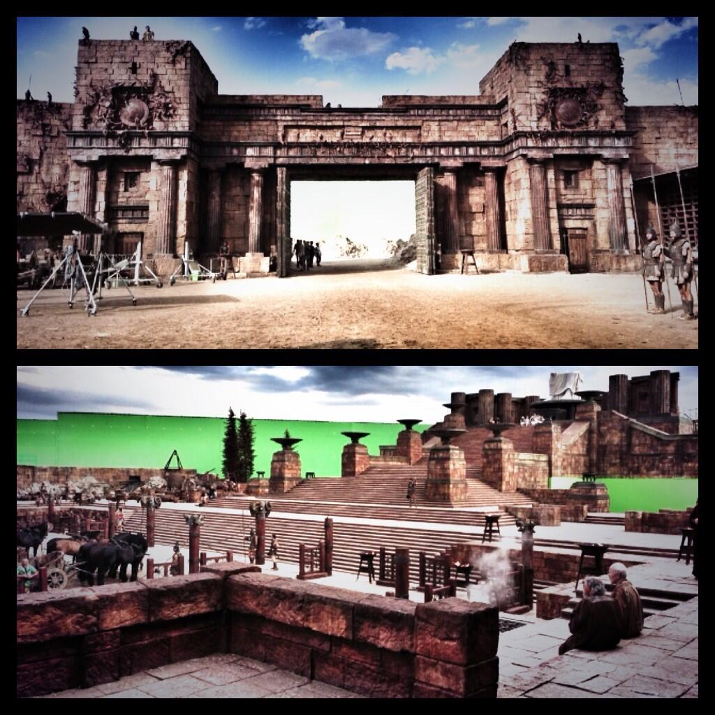 巨石强森再次发布《海格力斯》(Hercules)宏伟布景片场照